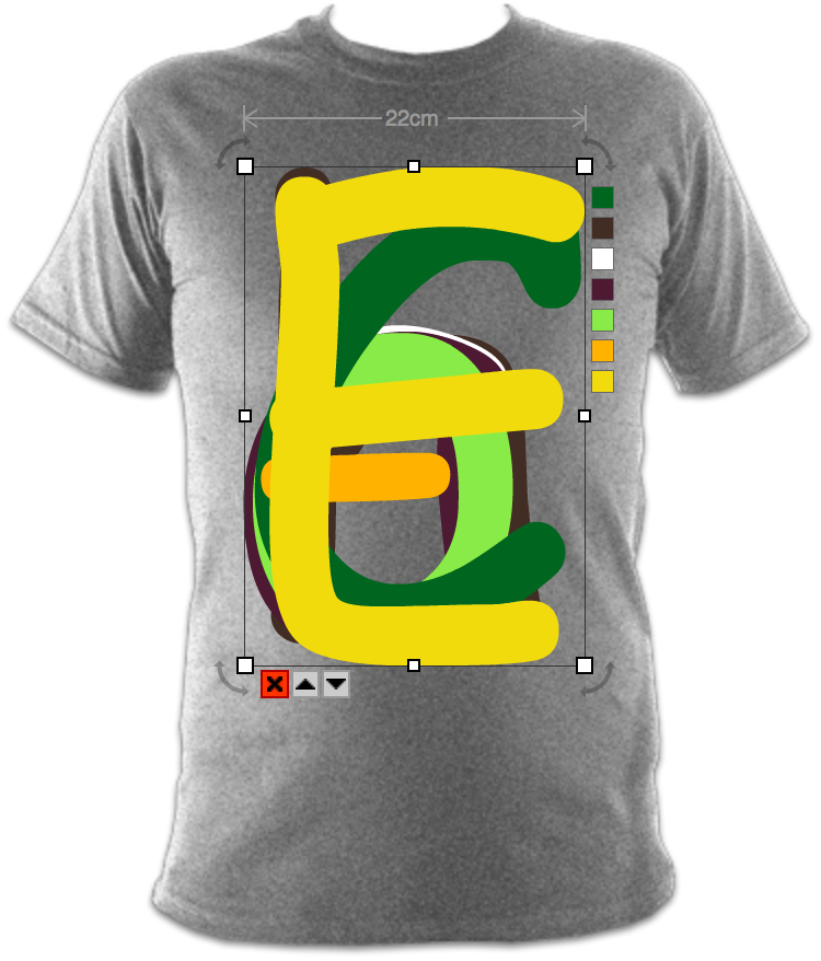 0b25cb227 Upload using the new Upload vector tool and the svg will appear in 'My  assets'. Click it from there to add it to your shirt.